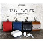 HANSMARE ITALY LEATHER AirPods CASE ネイビーの画像