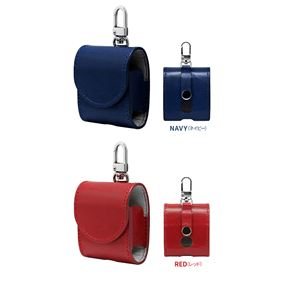 HANSMARE ITALY LEATHER AirPods CASE ネイビー