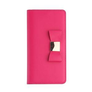 Layblock iPhone7 Ribbon Classic Diary ホットピンク