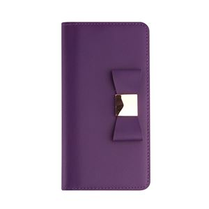 Layblock iPhone7 Ribbon Classic Diary パープル