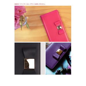 Layblock iPhone7 Ribbon Classic Diary パープル