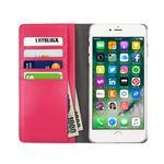 Layblock iPhone7 Plus Ribbon Classic Diary ホットピンクの画像