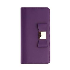 Layblock iPhone7 Plus Ribbon Classic Diary パープル