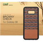 Man&Wood Galaxy S8 天然木ケース Browny Check