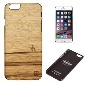 Man&Wood iPhone6 Plus 天然木ケース Terra ブラックフレーム - 拡大画像
