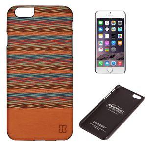 Man&Wood iPhone6 天然木ケース Browny check ブラックフレーム