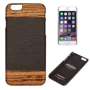 Man&Wood iPhone6 天然木ケース Cacao ブラックフレーム