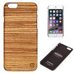 Man&Wood iPhone6 天然木ケース Zebrano ブラックフレーム