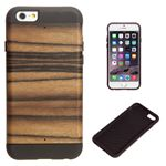 Man&Wood iPhone6 天然木ケース プロテクションタイプ Ebony ブラックフレーム