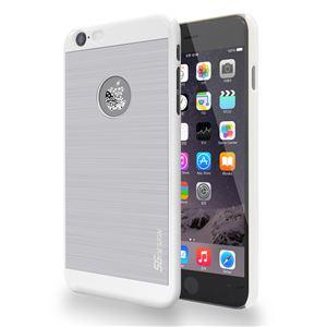 SG iPhone6 ALU ロゴイルミネーションケース Bubble ホワイト+シルバー