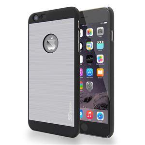 SG iPhone6 ALU ロゴイルミネーションケース Stripe ブラック+シルバー