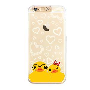 SG iPhone6 Clear Art イルミネーションケース ゴールド カップルダック(Gold Couple Duck)
