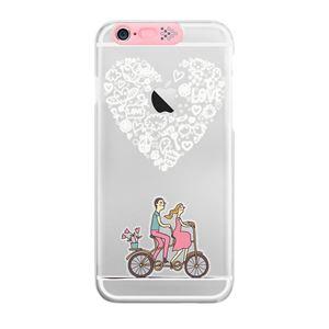 SG iPhone6 Clear Art イルミネーションケース ピンク ハートバイク(Pink Heart Bike)
