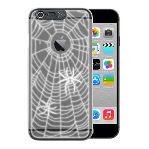 SG iPhone6 i-Clear イルミネーションケース Spider Black - 拡大画像