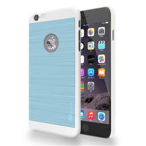 SG iPhone6 Plus ALU ロゴイルミネーションケース Bubble ホワイト+ブルー
