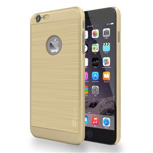 SG iPhone6 Plus ALU ロゴイルミネーションケース Stripe ゴールド+ゴールド