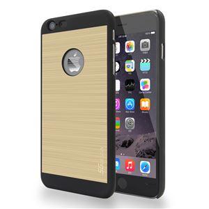SG iPhone6 Plus ALU ロゴイルミネーションケース Stripe ブラック+ゴールド
