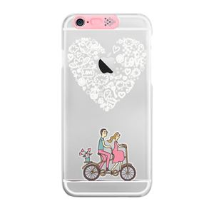 SG iPhone6 Plus Clear Art イルミネーションケース ピンク ハートバイク(Pink Heart Bike)