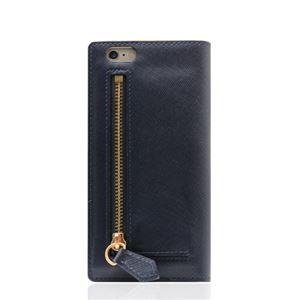 SLG Design iPhone6/6S Saffiano Zipper Case ネイビー