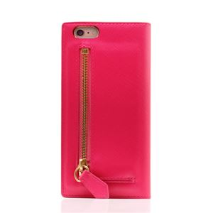 SLG Design iPhone6/6S Saffiano Zipper Case ホットピンク