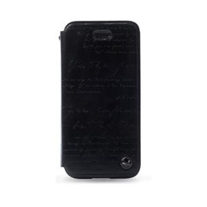 ZENUS iPhone5 レザーケース マステージ レタリング 手帳タイプ(Bar folder) ブラック