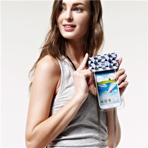 bikit スマートフォン用ファッション防水ポーチ ブルーダイアモンド