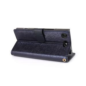 HANSMARE Xperia XZ1 Compact CALF DIARY ネイビーブルー