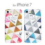 Happymori iPhone 8 / 7 Triangle Pattern ブルーの画像