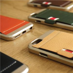 SLG Design iPhone 6 D6 Italian Minerva Box Leather Card Pocket Bar タンブラウン