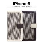 Zenus iPhone 6 Herringbone Diary アイボリー