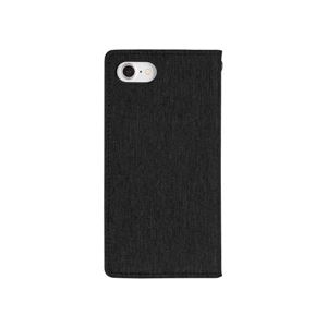 iPhone 8/7 Canvas Flip Case ブラック