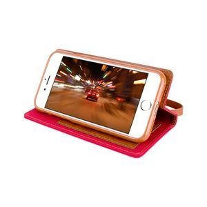 iPhone 8/7 Canvas Flip Case レッド