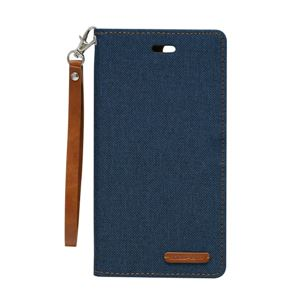 iPhone 8Plus/7Plus Canvas Flip Case ネイビー