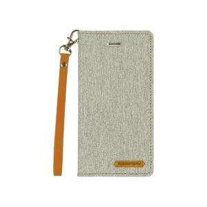 iPhone X Canvas Flip Case グレー