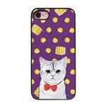 Dparks iPhone8/7 ブラックケース ネコとトウモロコシ