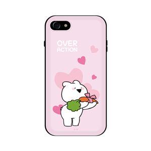 DK iPhone 8/7 すこぶる動くウサギ スタンド付カード収納ケース TH-001