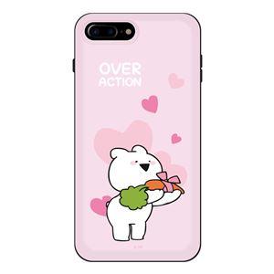 DK iPhone 8Plus/7Plus すこぶる動くウサギ スタンド付カード収納ケース TH-001