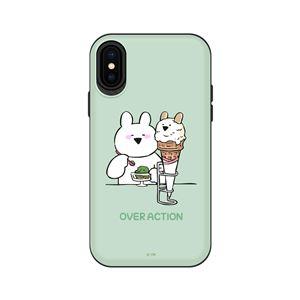 DKiPhoneXS/Xすこぶる動くウサギスタンド付カード収納ケースTH-008