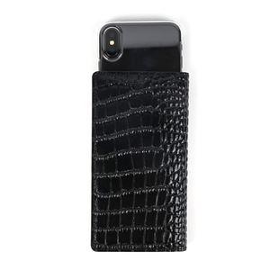 GAZE 多機種対応スライド式 手帳型ケース Vivid Croco Diary Mサイズ ブラック