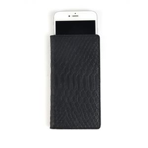 GAZE 多機種対応スライド式 手帳型ケース Matt Python Diary Mサイズ ブラック