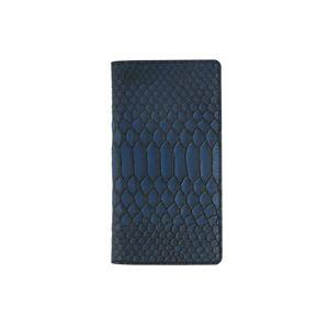 GAZE 多機種対応スライド式 手帳型ケース Matt Python Diary Lサイズ ブルー
