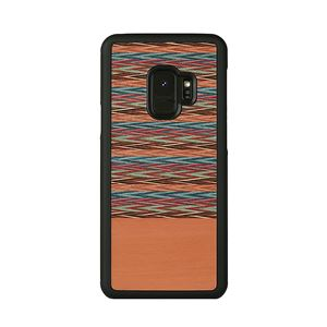 Man&Wood Galaxy S9 天然木ケース Browny Check