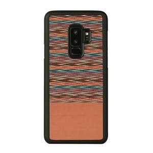 Man&Wood Galaxy S9+ 天然木ケース Browny Check