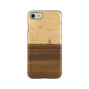 Man&Wood iPhone8/7 天然木ケース Mare ブラックフレーム
