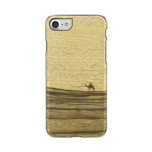 Man&Wood iPhone8/7 天然木ケース Terra ブラックフレーム