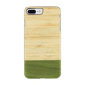 Man&Wood iPhone8Plus/7Plus 天然木ケース Bamboo Forest ブラックフレーム