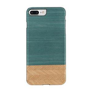 Man&Wood iPhone8Plus/7Plus 天然木ケース Denim ブラックフレーム