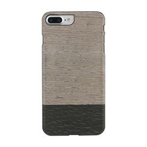 Man&Wood iPhone8Plus/7Plus 天然木ケース Lattis ブラックフレーム