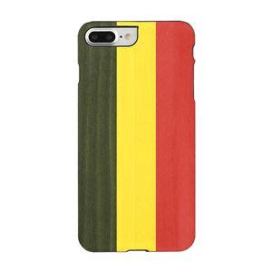 Man&Wood iPhone8Plus/7Plus 天然木ケース Reggae ブラックフレーム