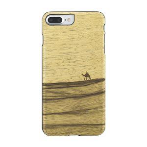 Man&Wood iPhone8Plus/7Plus 天然木ケース Terra ブラックフレーム